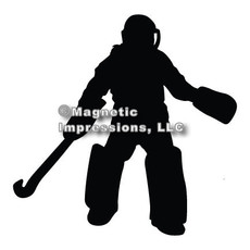Field Hockey Goalie Car Magnet in Black