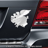 Flying Pig Car Magnet in Chrome