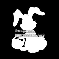 Easter Bunny Car Magnet