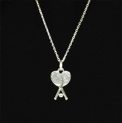 Tennis Racket Sterling Silver Charm Close