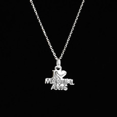 I Love Martial Arts Sterling Silver Charm