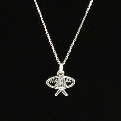 Martial Arts Word Sterling Silver Charm