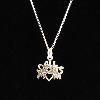 All Sports Mom Sterling Silver Charm