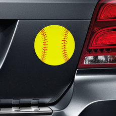 Softball Printed Car Magnet on Car