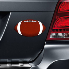 Football Printed Car Magnet on Car