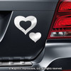 Hearts Car Magnet in Chrome