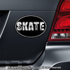 Figure Skate Word Car Magnet Chrome on Car