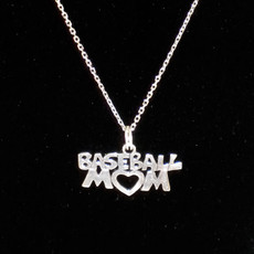 Baseball Mom Sterling Silver Charm