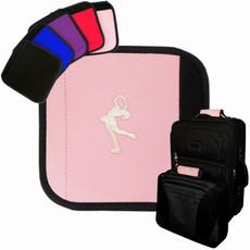 Figure Skater Emblem Luggage Handle Wrap