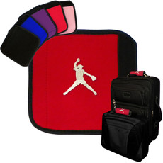 Softball Pitcher Emblem Luggage Handle Wrap