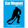 Ice Hockey Player Male Car Magnet Pose 3 in black