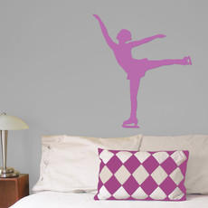 Figure Skater Spiral Wall Décor