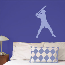 Softball Batter Wall Décor in Light Blue