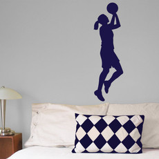 Basketball Female Wall Décor in Blue