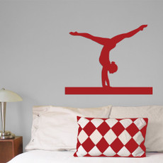 Gymnast Handstand Wall Décor in Red