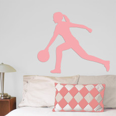 Bowler Female Wall Décor in Light Pink