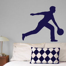 Bowler Male Wall Décor in Blue