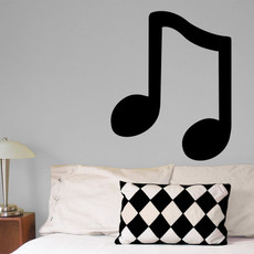 Musical Note Wall Décor in Black