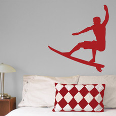 Surfer Wall Décor in Red