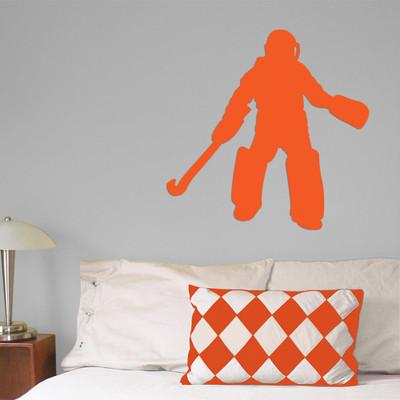 Field Hockey Goalie Wall Décor in orange