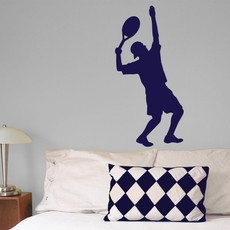 Tennis Male Wall Décor in Blue