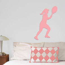 Tennis Female Wall Décor in Light Pink