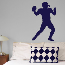 Football Wall Décor in Blue
