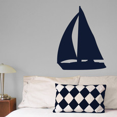 Sailboat Wall Décor in Dark Blue