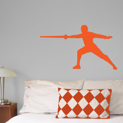 Fencer Male Wall Décor in Orange