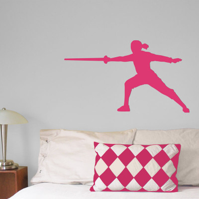 Fencer Female Wall Décor in Hot Pink