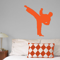 Martial Artist Male Wall Décor in Orange