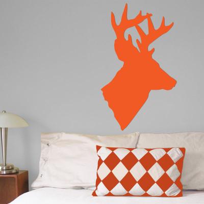 Deer Head Wall Décor in Orange