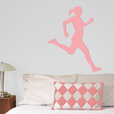 Runner Female Wall Décor in Pink