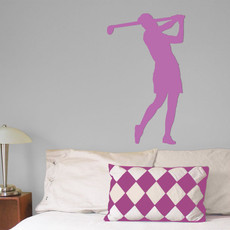 Golfer Female Wall Décor in Lilac