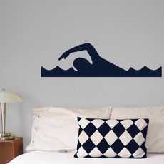 Swimmer Wall Décor in Dark Blue