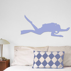 Scuba Diver Wall Décor in Light Blue