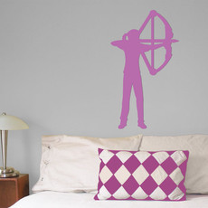 Archer Compound Bow Female Wall Décor in Lilac
