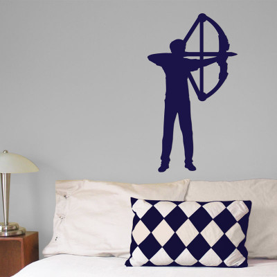 Archer Compound Bow Male Wall Décor in Blue
