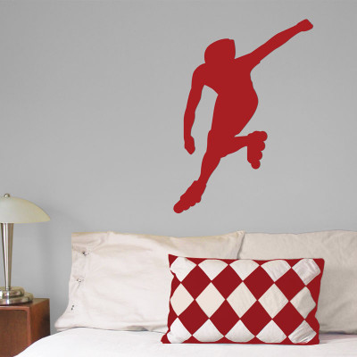 Inline Skater Wall Décor in Red