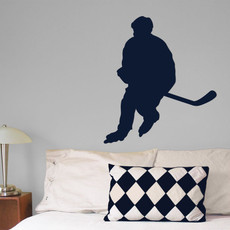 Roller Hockey Male Wall Décor in Dark Blue
