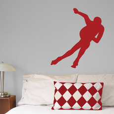 Speed Skater Wall Décor in Red