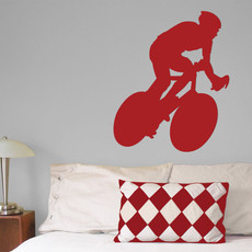 Cyclist Wall Décor in Red