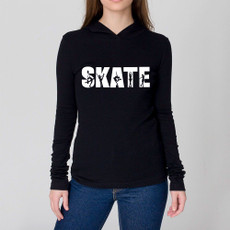 Hooded Long Sleeved Figure Skate Tee