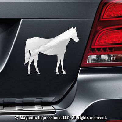 Horse Car Magnet in Chrome