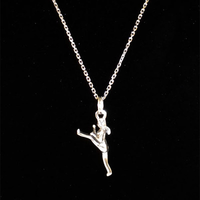 Martial Arts Female Sterling Silver Charm