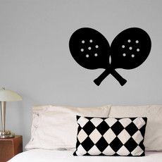 Paddle Tennis Wall Décor in Black