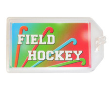 Field Hockey Plastic Luggage Tag