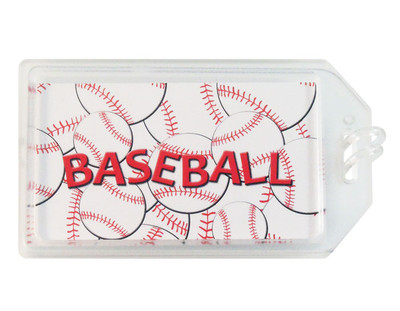 Baseball Plastic Luggage Tag
