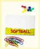 Softball Sticky Notes. Office supplies not included.