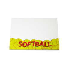Softball Sticky Notes